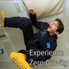 Bucket list: experience zero gravity.