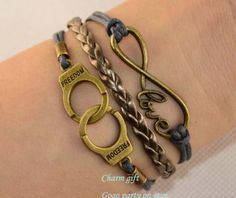 Infinity bracelet Love charm bracelet Handcuffs by Gogoparty, $2.99
