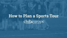 Need help planning your sports tour? Take a look at our short film. Netball, School Sports, Short Film, Student, Tours, How To Plan, College Students