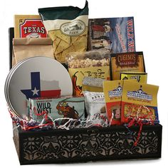 Totally texas texas gift basket texas gift baskets pinterest cow hand texas gift basket more negle Image collections