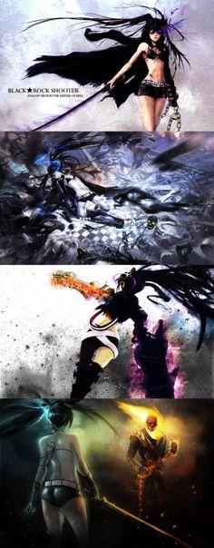 Black Rock Shooter & Ghost Rider