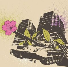 FLORAL TANK - Posters that Stick (adhesive wall art stickers) at Wheatpaste Art Collective