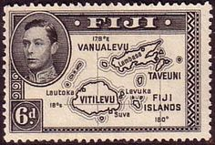 Fiji 1938 SG 261 Map of Islands Fine Mint SG 261 Scott 135 Other Fijian Stamps Here