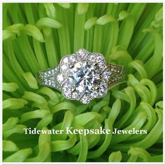Fancy diamond engagement ring from Tidewater Keepsake Jewelers.