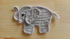 How to crochet an elephant application applique ༺✿ƬⱤღ http://www.pinterest.com/teretegui/✿༻