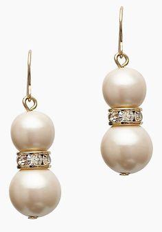 #katespade pearl drop earrings  http://rstyle.me/n/gwjrvpdpe