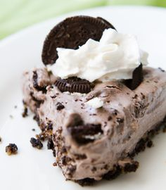 Vegan Chocolate Mint Cookie Cheesecake. No-Bake!