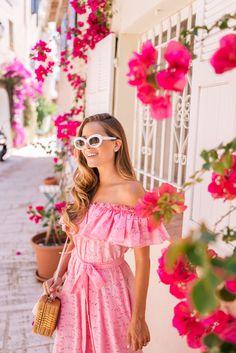 Gal Meets Glam Grimaud & St. Tropez, France Lisa Marie Fernandez dress, Mark Cross bag & Raen sunglasses