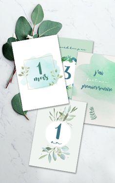 kit cartes étapes bébé, bébé, photo bébé, naissance, photo naissance Kit, Place Cards, Photos, Place Card Holders, Camilla, Paper Mill, Cards, Pictures
