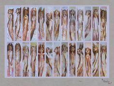 engelscollage: klappkarte von dorle koch: theodora auf DaWanda.com
