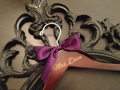 Engraved Bridal Hanger / Personalized Wedding Hanger by GetHungUp, $19.99