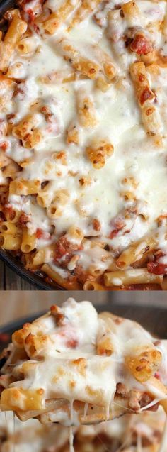 This One Pan Baked Ziti from Tastes Better from Scratch makes the perfect weeknight dinner for your busy family! One pan means less clean up, which is always a bonus in our book.