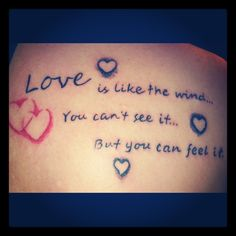 Love quote tattoo