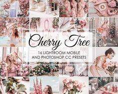 Spring is just around the corner. Discover our CHERRY TREE Lightroom Presets. Create a soft. Photoshop Filters, Photoshop Presets, Selfies, Lush, Girl Boss Quotes, Cherry Tree, Vsco Filter, Iphone, Pastel