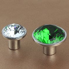 Glass Crystal Knobs / Dresser Knob Drawer Knobs Pulls Handles / Kitchen Cabinet…