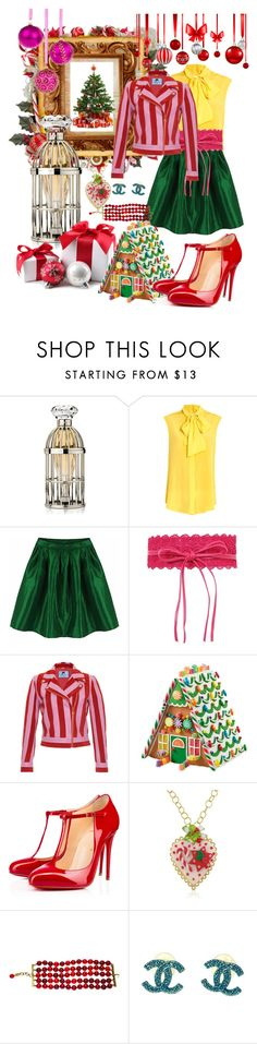 """""""Christmas In July"""" by kelly-haven-russell on Polyvore featuring Lipsy, Moschino, Blumarine, Christian Louboutin, Dolci Gioie and Chanel"""