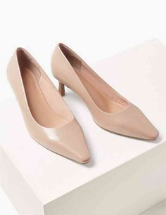 Buy the Wide Fit Kitten Heel Court Shoes from Marks and Spencer's range. Kitten Heel Shoes, Shoes Heels, Cotton Lingerie, Holiday Shoes, Hunting Gifts, Court Shoes, Low Heels, Fashion Advice, Everyday Fashion