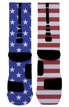 Don't settle for the typical red, white and blue style print socks. Get true USA inspired socks that are bold and unique. Nike Elite Socks, Nike Socks, My Socks, Crazy Socks, Nike Outfits, Sport Outfits, Iphone 5c, Tall Socks, Socks