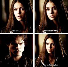 Season one Damon and Elena