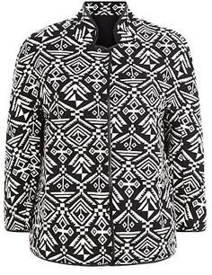 Womens black and white jacket from New Look - £30 at ClothingByColour.com