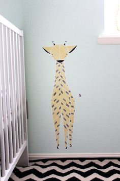 Giraffe Reusable Fabric Wall Decal - Large Wall Sticker. $22.00, via Etsy.