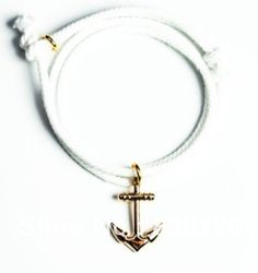 Anchor Rope Bracelet Gold  Less than $10 at Bee's!