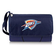 NBA Oklahoma City Thunder Outdoor Picnic Blanket Tote Navy *** You can find more details by visiting the image link.