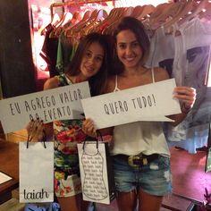 Parceria Criativa!!! Delicia estar com vocês...  Nathalia e Luiza amaram a coleção e garantiram as novidades!!! Amamos!!! #girls #fashion #tops #trends #cool #happy #cute #love #laiah