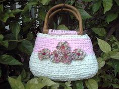 Borsa, crochet con fettuccia