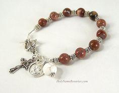 Santo Rosario familia pulsera rosario Poppy por HolyNameRosaries