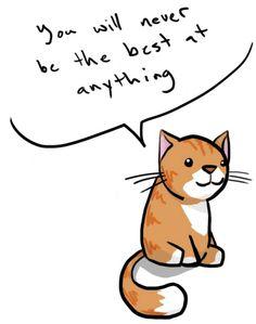 Funny cat = false cat