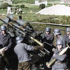 the_ww2_archives 8.8cm FlugzeugAbwehrKanone (FlaK) 18/36/37.  The 88 mm gun (eighty-eight) was a German anti-aircraft and anti-tank artillery gun from World War II. It was widely used by Germany throughout the war, and was one of the most recognized German weapons of the war. Development of the original models led to a wide variety of guns.  The name applies to a series of guns, the first one officially called the 8.8 cm Flak 18, the improved 8.8 cm Flak 36, and later the 8.8 cm Flak 37…