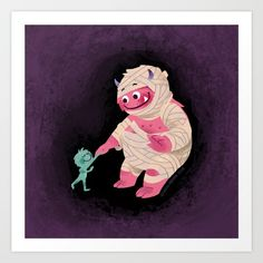 #buyart #society6 #lovely #monsters #homedecor #hamtzcurator #digitalart for #children #room #decoration