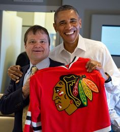 Hey, @NHLBlackhawks! @POTUS and @RepMikeQuigley are fired up for Game 3 tonight.