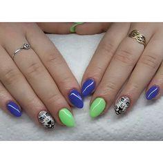 Tygrysy :) #indigo #paznokcie #migdałki #hybryda #hybrid #manicure #mani #nails #tiger #flyhigh #adriatic
