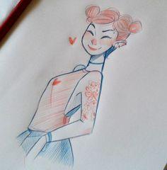 chachachabela:  Girls! quick sketches =)