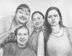 - Happiness is Spending time with Family and make that memory alive by creating portrait. Portraits From Photos, Family Portraits, Family Portrait Painting, Pencil Sketch Portrait, Charcoal Portraits, Hand Sketch, Traditional Art, How To Draw Hands, Happiness