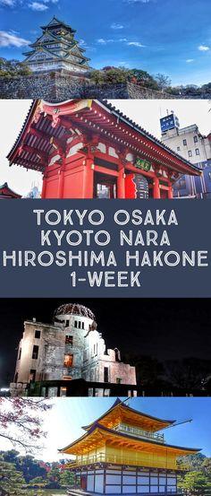Ultimate Japan itinerary for one week (7 days) see Tokyo, Osaka, Kyoto, Hiroshima, Nara, Hakone, Miyajima and more! The best things to do and how to navigate. #japan #travel