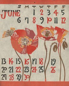 Mingei Calendar June by Library Fashionista on Flickr.