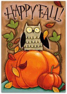 """""""Happy Fall"""" A Ѽ Wild Apple Ѽ Art Print, http://wildapple.com/artwork/51470"""