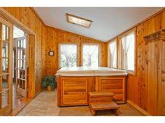 hmmmm may need a bigger window:) Hot Tub Room, Tubs For Sale, 4 Season Room, Three Season Porch, Hot Tub Deck, Master Bath Shower, Dome House, Room Additions, Big Windows