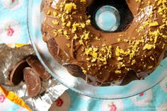 Chocolate & Orange Zest Bundt Cake with Orange Sugar Sand and a dash of Terry's Chocolate Orange! I have put up a few bundt cake recipes in my time now, including a chocolate one, but something about Chocolate & Orange together is a marriage made in heaven. My recipe for myChocolate Orange Cookiesis amazingly popular, and is one my boyfriends absolute favourite cookies ever! After the success of the cookies I thought I would develop a Cake version that would be perfect for Afternoon...