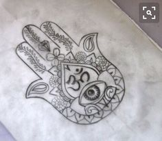 Hamsa hand to be centered on meaty portion of inner forearm, would like some delicate linework, large white lotus instead of an eye, Om symbol above lotus.