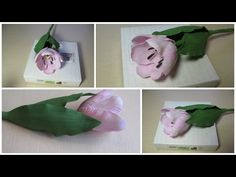 Тюльпан из фоамирана. Как окрашивать фоамиран. - YouTube