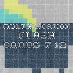 Multiplication flash cards 7-12