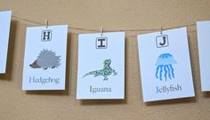 "Alphabet cards, alphabet cards for infants and toddler's,  art, unisex alphabet flash cards decor, 5x7"" prints. Perfect for any nursery or room!"