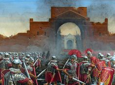 La Pintura y la Guerra. Sursumkorda in memoriam Rome History, Ancient History, Military Art, Military History, Imperial Legion, Roman Centurion, Roman Legion, Roman Soldiers, Roman Empire