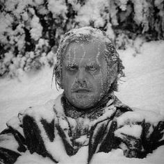 THE SHINING - Jack Nicholson is frozen to death - Based on novel by Stephen King - Directed by Stanley Kubrick - Warner Bros. Scary Movies, Great Movies, Horror Movies, Horror Art, Stanley Kubrick, Films Quotes, Jack Nicholson The Shining, Jack Nicholson Gif, Film Mythique