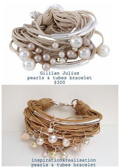 DIY Gillian Julius Pearls and Tubes Bracelet Tutorial from inspiration & realisation here. This tutorial may seem like it has a lot of steps to it, but the materials are really basic and Donatella from inspiration & realisation is really thorough about explaining how to make this (and believe me, that's a good thing).