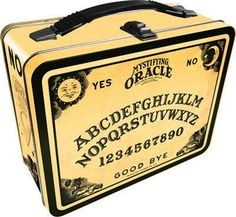 Lunch Box: Ouija Board :: Enamel Pins :: Buttons & Enamel Pins :: Accessories :: House of Mysterious Secrets - Specializing in Horror Merchandise & Collectibles Tin Lunch Boxes, Vintage Lunch Boxes, Metal Lunch Box, Vintage Tins, Charlie Challenge, Ouija, How To Speak Spanish, Kids Health, Make It Yourself